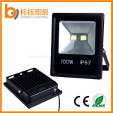 Illuminazione di inondazione ultrasottile sottile di fusione sotto pressione esterna della lampada LED del giardino del proiettore di alluminio 10-100W dell'indicatore luminoso IP67