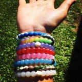Nieuwe Energie 36 Manchetten van de Sporten van de Armband Lokai van het Silicone van Kleuren de Blauwe