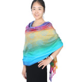 Lady Fashion Pashmina Rainbow Soft Wrap Scarf