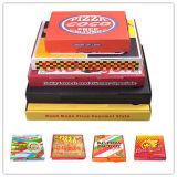 외부 백색과 자연 적이고 또는 Kraft 실내 피자 상자 (PIZZA-451)