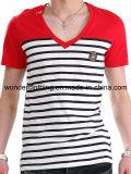 Coton de mode en gros chaude ou T-shirt bon marché d'hommes de Ployester