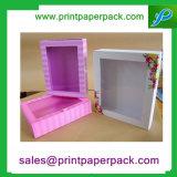 عالة يطبع مستحضر تجميل يعبّئ ورق مقوّى ورقيّة مستحضر تجميل صندوق مع [بفك] نافذة