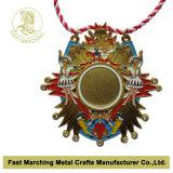 Medaille van het Metaal van de Afwerker van het Metaal van de douane de Antieke Zilveren 3D voor Gebeurtenissen