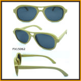 2015 New Sunglasses with Sandal Wood Material (FX15062)