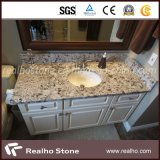 Antico White Granite Bath Countertop with Single Porcelain Sink