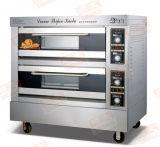 Hete Verkoop! ! ! ! Dubbel Dek Elektro/de Oven van het Gas voor het Baksel van het Brood met Stoom