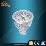 Iluminación de aluminio del punto de la taza LED de la luz del poder más elevado de la hebra