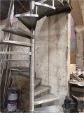 Escaleras giratorias negras de carbón de la arena al aire libre del acero en conjunto