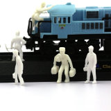 1 : Chiffre ferroviaire en plastique mesuré par 87 d'ouvrier (paquet mélangé)