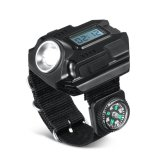 Infrared Compass Display LED Relógio de pulso recarregável Lanterna Torch Light