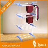 Cremalheira de secagem Foldable de venda quente de três camadas com rodas (JP-CR300WP3P)