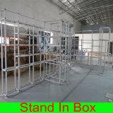 Crear la exhibición modular portable del objeto expuesto para requisitos particulares de la cabina de la feria profesional