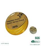 El metal de cobre amarillo de la impresión del regalo de la promoción Badges el emblema (Z08)