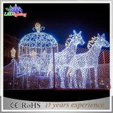 De Openlucht LEIDENE van Carraige van het Paard van de Pompoen van Kerstmis Lichten van de Decoratie