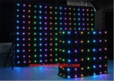 DJ Backdrop Vision Curtain, LED Video Cloth met 30 Different Programs in BR Card
