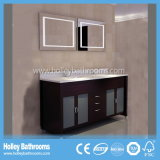 Module fixé au sol net de vanité de salle de bains en bois solide de type américain (BV196W)
