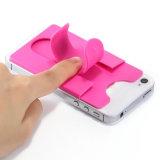 Tacto en forma de u soporte de teléfono de silicona titular con ranura para tarjetas
