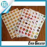 Piccoli frutta dell'autoadesivo di disegno del contrassegno ed autoadesivo del contrassegno dell'alimento