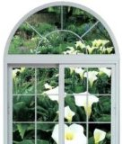 Окно гарантии качества алюминиевое сползая