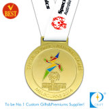 Medalha olímpica do esporte feito sob encomenda do metal do ouro da venda por atacado da alta qualidade