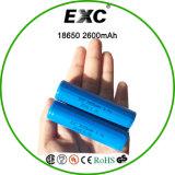 bateria de lítio da bateria 18650 2600mAh recarregável