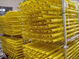 Échafaudage orientable peint par jaune normal pour des matériaux de construction