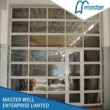 Vista completa de cristal de puerta de cochera / transparente de garaje seccional Puerta / Cristal de puerta de cochera , Puerta de poliuretano transparente Garaje