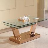 Tavolino da salotto quadrato superiore di vetro della mobilia domestica