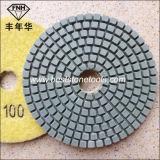돌 (4 인치)를 위한 Wd-1-100 표준 다이아몬드 유연한 닦는 패드