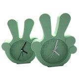Horloges d'alarme de bureau de silicones estampées par logo d'intérieur promotionnel moderne de forme de montre de décoration mini