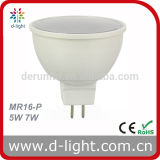 Ce RoHS Gu5.3 Ra>80 PF>0.5 SMD2835 120 Degree Plastic Aluminum 400lm MR16 5W LED Spotlight