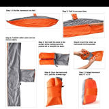 Ultra-Durable Camping Double Hammock, Nylon Parachute Fabric Compact & Indoor & Outdoor Relaxation를 위한 Portable Capacity 400 Lbs