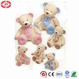 분홍색과 파란 최고 연약한 공상에 의하여 채워지는 견면 벨벳 장난감 곰