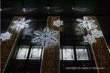 Decoração do feriado do Natal da luz do floco de neve do diodo emissor de luz