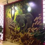 Decorazione della parete di arte delle mattonelle Nano della parete interna di vetro TV