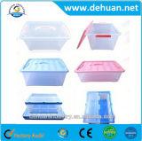 Rectángulo de almacenaje grande multi plástico barato del estaño con alta calidad