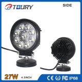 9PCS*3W高輝度円形様式LED作業ランプの軽い27W棒