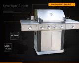 CSA bescheinigte das 4+2 Brenner-Gas BBQ-Gitter-Grill