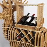 Kreative hölzerne Rotwild-Wein-Zahnstangen-Fertigkeiten