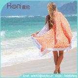 高品質の100%年の綿の円形のビーチタオル