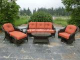 6 parti del sofà di vimini rotondo della mobilia stabilita del giardino