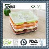 устранимый пластичный поднос еды 3compartment, сейф микроволны