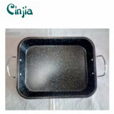 Vaschetta di cottura di marmo sicura del rivestimento dell'alimento del acciaio al carbonio con le orecchie
