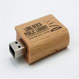 Regalo de promoción barato de madera de gran tamaño de disco flash USB
