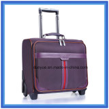 携帯用若者デザイントロリー袋、車輪が付いているカスタムナイロン旅行荷物袋