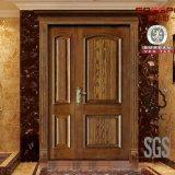 Porta interior da madeira contínua da folha residencial do dobro da entrada da parte dianteira da segurança (GSP1-012)