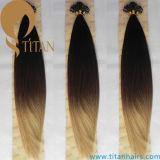 A cor de Ombre lig pre a extensão do cabelo da ponta da queratina U