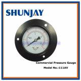 Indicateur de pression commercial en acier noir (sécher la mesure)