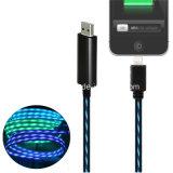 câble de remplissage circulant de transfère des données léger du micro USB de 5V 2A DEL