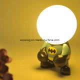 Lâmpada recarregável da noite do USB de Deco dos desenhos animados do diodo emissor de luz